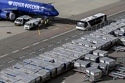 October 1, 2018 - Tupolev Tu-204-100C cargo jet aircraft of Russian Post at Vnukovo International Airport, Moscow, Russia  (Credit Image: © Russian Look via ZUMA Wire)