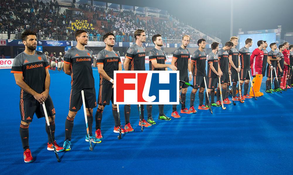 BHUBANESWAR - Line up Oranje    voor de Hockey World League Final wedstrijd Belgie-Nederland (3-0).   COPYRIGHT KOEN SUYK
