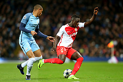 Benjamin Mendy of Monaco and Fernando of Manchester City - Mandatory by-line: Matt McNulty/JMP - 21/02/2017 - FOOTBALL - Etihad Stadium - Manchester, England - Manchester City v AS Monaco - UEFA Champions League - Round of 16 First Leg