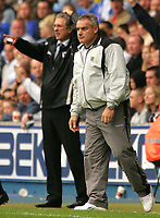 Photo: Frances Leader.<br />Millwall v Cardiff City. Coca Cola Championship.<br />24/09/2005.<br /><br />Cardiff's manager Dave Jones and Millwall's Manager Colin Lee