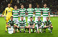 05/11/15 UEFA EUROPA LEAGUE GROUP STAGE<br /> CELTIC v MOLDE FK<br /> CELTIC PARK - GLASGOW<br /> Celtic Team Picture.<br /> Back Row (L-R) Craig Gordon, Stuart Armstrong, Tom Rogic, Jozo Simunovic, Dedryck Boyata and Nir Bitton.<br /> Front Row (L-R): Mikael Lustig, Kris Commons, Kieran Tierney, Stefan Johansen and Leigh Griffiths.