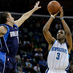 Nov 04, 2009; New Orleans, LA, USA; New Orleans Hornets guard Chris Paul (3) shoots over New Orleans Hornets guard Chris Paul during the second half at the New Orleans Arena. The Hornets defeated the Mavericks in overtime 114-107.  Mandatory Credit: Derick E. Hingle-US PRESSWIRE