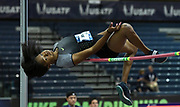 Mar 3, 3017; Albuquerque, NM, USA; Erica Bougard clears 6-0 1/2 in the pentathlon high jump for the top mark during the USA Indoor Track and Field championships at the Albuquerque Convention Center.