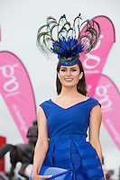28/07/2016 repro free  <br /> <br /> Aoife O'Sullivan, Kinsale, at The g Hotel Best Dressed competitions on Ladies day of The Galway Races . Photo:Andrew Downes, xposure