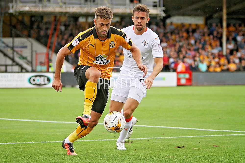 Cambridge Utd forward Ben Williamson (10) controls the ball  during the EFL Sky Bet League 2 match between Cambridge United and Luton Town at the R Costings Abbey Stadium, Cambridge, England on 27 August 2016. Photo by Nigel Cole.