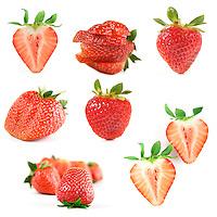 Strawberry on white backround