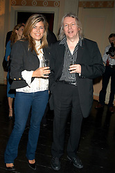 Film writer & Director CHRISTOPHER HAMPTON and SARAH STANDING at a party hosted by Tatler magazine to celebrate the publication of Lunar park by Bret Easton Ellis held at Home House, 20 Portman Square, London W1 on 5th October 2005.<br />