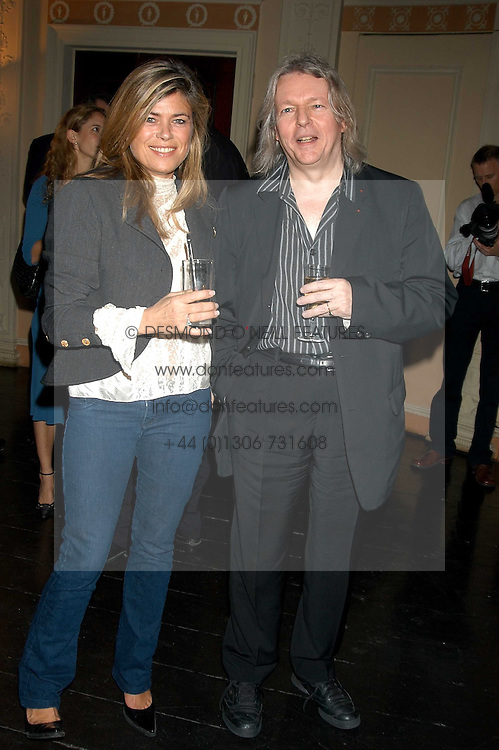 Film writer & Director CHRISTOPHER HAMPTON and SARAH STANDING at a party hosted by Tatler magazine to celebrate the publication of Lunar park by Bret Easton Ellis held at Home House, 20 Portman Square, London W1 on 5th October 2005.<br /><br />NON EXCLUSIVE - WORLD RIGHTS