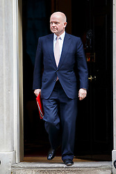 © Licensed to London News Pictures. 24/02/2015. LONDON, UK. Leader of the Commons William Hague attending to a cabinet meeting in Downing Street on Tuesday, 24 February 2015. Photo credit: Tolga Akmen/LNP