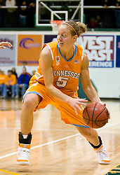 December 22, 2009; San Francisco, CA, USA;  Tennessee Lady Volunteers guard/forward Angie Bjorklund (5) during the first half against the San Francisco Dons at War Memorial Gym.  Tennessee defeated San Francisco 89-34.