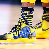 03 April 2018: Close view of Indiana Pacers forward Trevor Booker (20) Nike sneakers during the Denver Nuggets 107-104 victory over the Indiana Pacers, at the Pepsi Center, Denver, Colorado, USA.