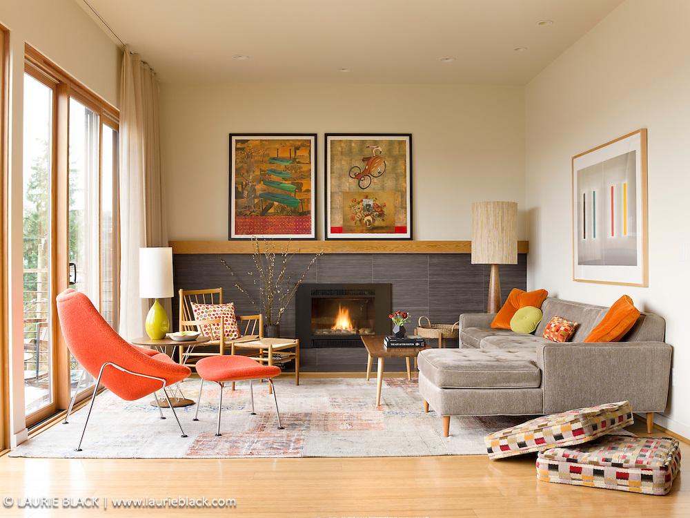 Contemporary design northwest living room