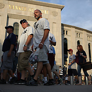 NEW YORK, NEW YORK - July 10: Fans outside Yankee Stadium during the Boston Red Sox Vs New York Yankees regular season MLB game at Yankee Stadium on July 10, 2016 in New York City. (Photo by Tim Clayton/Corbis via Getty Images)