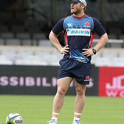 Matt Lucas of the NSW Waratahs during the NSW Waratahs Cap Run at  Growthpoint Kings Park Durban , South Africa. March 9th 2017(Photo by Steve Haag)<br /> <br /> images for social media must have consent from Steve Haag