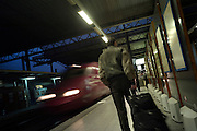 Brussels January 29, 2007 -  South Brussels railways station Departure Journey Travel Voyage Trip SNCB NMBS Thalys  REPORTERS©Jean-Michel Clajot