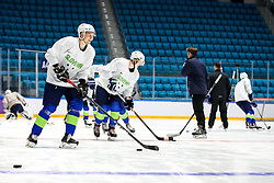 Tadej Cimzar at ice hockey practice one day before at IIHF World Championship DIV. I Group A Kazakhstan 2019, on April 28, 2019 in Barys Arena, Nur-Sultan, Kazakhstan. Photo by Matic Klansek Velej / Sportida