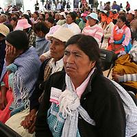 San José del Rincón, México.- Mujeres durante la celebración del Día Internacional de las Mujeres Rurales, en donde el GEM entrego apoyos e instalaciones de salud. Agencia MVT / José Hernández