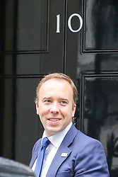 © Licensed to London News Pictures. 21/10/2019. London, UK. Secretary of State for Health and Social Care MATT HANCOCK arrives in No 10 Downing Street. Photo credit: Dinendra Haria/LNP