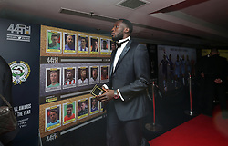 Everton's Romelu Lukaku arriving for the Professional Footballers' Association Awards 2017 at the Grosvenor House Hotel, London