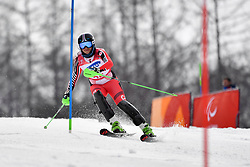 RAMSAY Alana LW9-2 CAN competing in the ParaSkiAlpin, Para Alpine Skiing, Slalom at the PyeongChang2018 Winter Paralympic Games, South Korea.