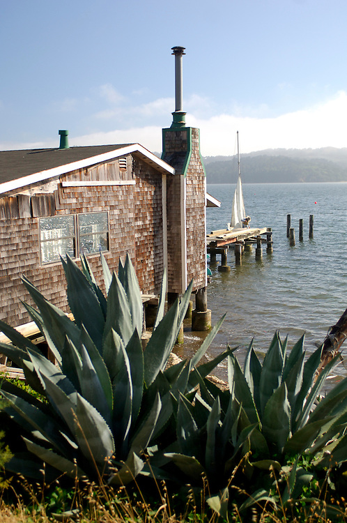 House at Tomales Bay near Marshall, California, United States of America