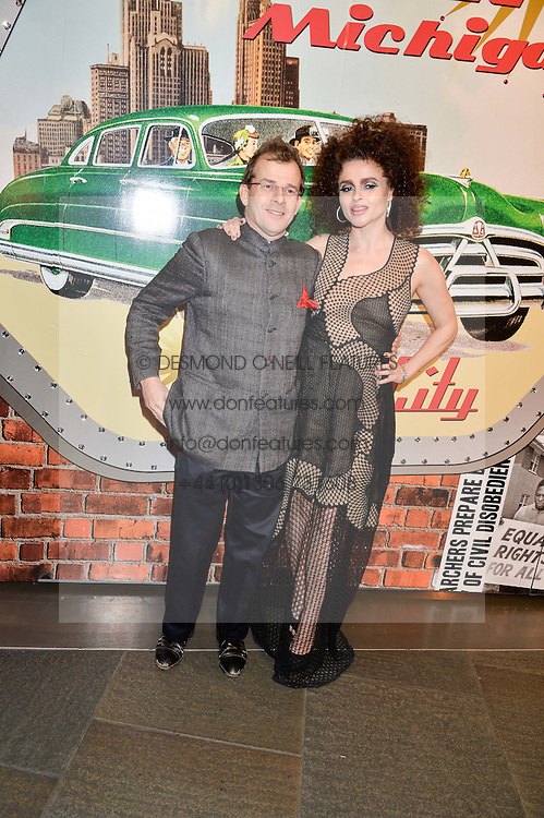HELENA BONHAM-CARTER and her brother EDWARD BONHAM-CARTER at A Night of Motown in aid of Save The Children UK held at The Roundhouse, Chalk Farm Road, London on 3rd March 2016.
