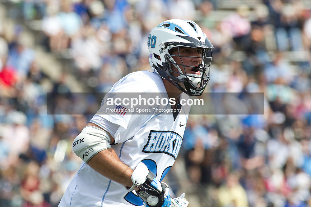03 April 2010: Johns Hopkins Blue Jays midfielder Dave Spaulding (30) during an 11-7 loss to the North Carolina Tar Heels on Homewood Field in Baltimore, MD.