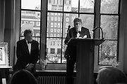 SIR TOM STOPPARD; SIR JOHN RICHARDSON;  , The London Library Annual  Life in Literature Award 2013 sponsored by Heywood Hill. The London Library Annual Literary dinner. London Library. St. james's Sq. London. 16 May 2013.
