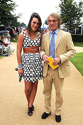 MARK TOMLINSON and IONA HUTLEY at the 3rd day of the 2008 Glorious Goodwood racing festival at Goodwood Racecourse, West Sussex on 31st July 2008.<br /> <br /> NON EXCLUSIVE - WORLD RIGHTS