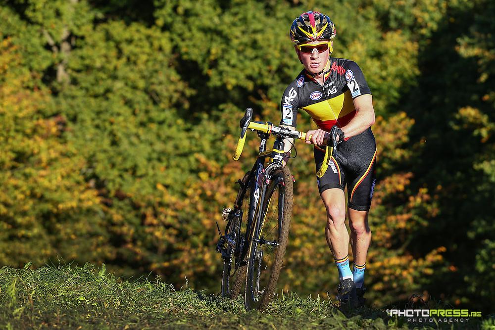 NETHERLANDS / NEDERLAND / PAYS BAS VALKENBURG / CYCLING / UCI WORLD CUP CYCLOCROSS / WERELDBEKER / VELDRIJDEN / CYCLO-CROSS / JUNIORES / JUNIORS / ELI ISERBYT (BEL) /