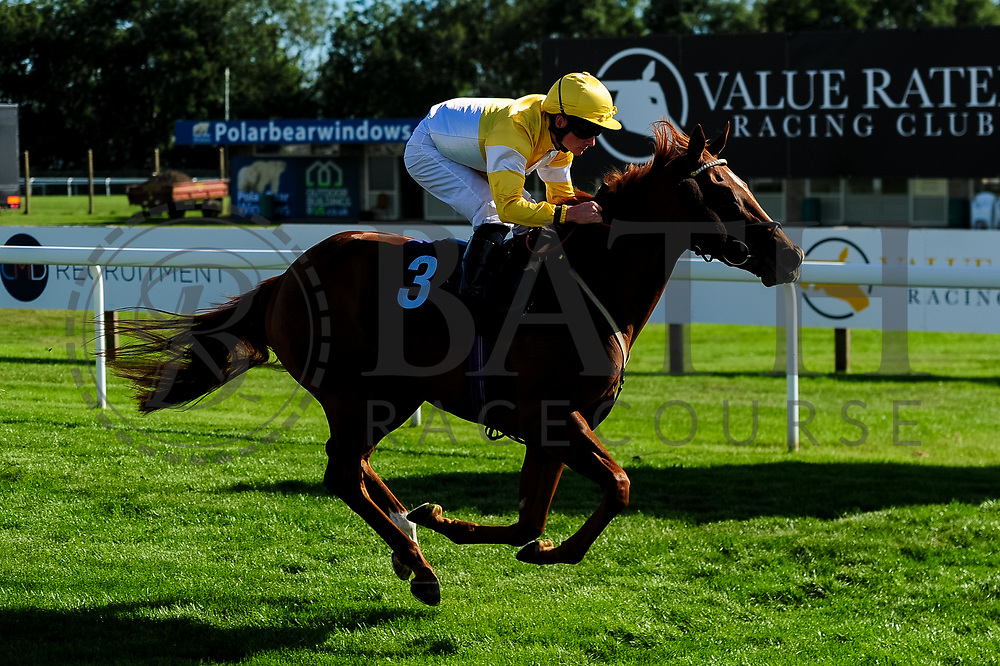 Space Ace ridden by Adam McNamara and trained by Archie Watson in the Sds/Ebf Novice Auction Stakes (Plus 10 Race) race.  - Ryan Hiscott/JMP - 14/09/2019 - PR - Bath Racecourse - Bath, England - Race Meeting at Bath Racecourse