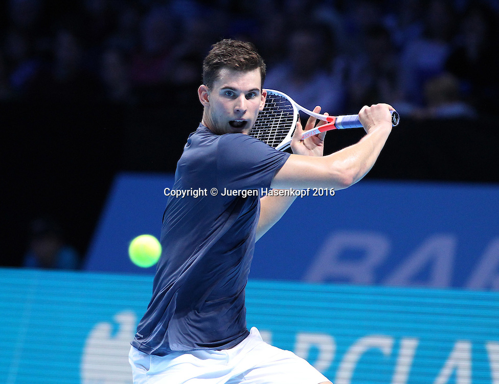 DOMINIC THIEM (AUT), ATP World Tour Finals, O2 Arena, London, England.<br /> <br /> Tennis - ATP World Tour Finals 2016 - ATP -  O2 Arena - London -  - Great Britain  - 13 November 2016. <br /> &copy; Juergen Hasenkopf/Grieves