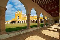Mexique, Etat du Yucatan,  Ville jaune de Izamal, Couvent de San Antonio de Padua // Mexico, Yucatan state, Izamal, yellow city, Convento De San Antonio De Padua, Convent of San Antonio De Padua, Monastery