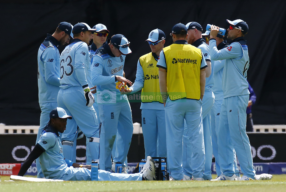 May 27, 2019 - London, England, United Kingdom - England players having some Jelly Babes.during ICC Cricket World Cup - Warm - Up between England and Afghanistan at the Oval Stadium , London,  on 27 May 2019. (Credit Image: © Action Foto Sport/NurPhoto via ZUMA Press)