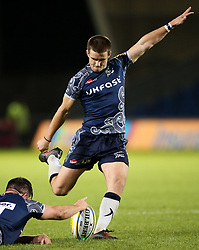 AJ MacGinty of Sale Sharks scores a conversion - Mandatory by-line: Matt McNulty/JMP - 08/09/2017 - RUGBY - AJ Bell Stadium - Sale, England - Sale Sharks v Newcastle Falcons - Aviva Premiership