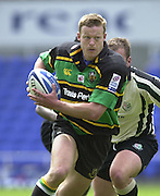 19/05/2002.Sport -Rugby Union- Zurich Championship Quarter final.London Irish v Northampton.Nick Beal, breaks through the Exiles defence to score a first half try...[Mandatory Credit, Peter Spurier/ Intersport Images].