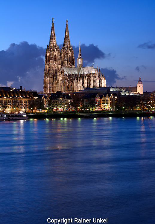 DEU , DEUTSCHLAND : Koeln am Rhein mit Koelner Dom<br />
