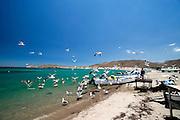 San Evaristo, Baja California Sur Mexico<br /> fishermen village at the sea of cortes,