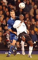 Fotball<br /> England 2004/22005<br /> Foto: SBI/Digitalsport<br /> NORWAY ONLY<br /> <br /> Fulham v Watford<br /> 19/1/2005.<br /> FA Cup Third Round Replay.<br /> <br /> Fulham's Andy Cole and Watford's Jay Demerit
