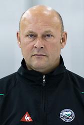 Andrej Hebar, Assistant Coach, member of HDD Tilia Olimpija ice-hockey team for season 2010/2011 at official photo shooting in Hala Tivoli, Ljubljana, on September 1, 2010, in Ljubljana, Slovenia. (Photo by Matic Klansek Velej / Sportida)