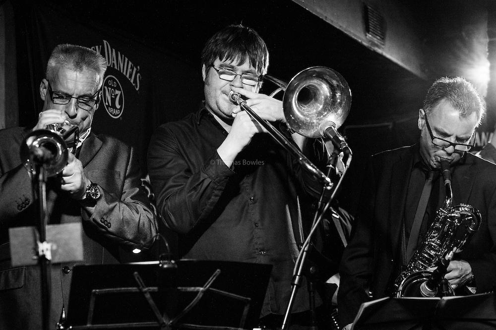 Lee Thompson Ska Orchestra at the Dublin Castle<br /> <br /> Lee Thompson &ndash; Saxophone, Lead Vocals<br /> <br /> Mark Bedford &ndash; Bass<br /> <br /> Louis Vause &ndash; Keyboards<br /> <br /> Seamus Beaghan &ndash; Organ, Melodica<br /> <br /> Bob Dowell &ndash; Trombone<br /> <br /> Darren Fordham &ndash; Vocals, Percussion, Melodica<br /> <br /> Kevin Burdett &ndash; Guitar<br /> <br /> Andy Neal &ndash; Guitar<br /> <br /> Mez Clough &ndash; Drums<br /> <br /> Steve Hamilton &ndash; Saxophone<br /> <br /> Steve White &ndash; Trumpet
