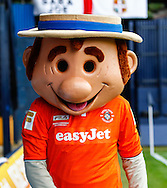 Luton Town mascot, Harry The Hatter, before the Sky Bet League 2 match at Kenilworth Road, Luton<br /> Picture by David Horn/Focus Images Ltd +44 7545 970036<br /> 16/08/2014
