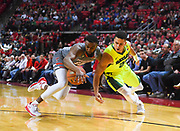 LUBBOCK, TX - DECEMBER 29: Niem Stevenson #10 of the Texas Tech Red Raiders and Manu Lecomte #20 of the Baylor Bears battle for a loose ball during the game on December 29, 2017 at United Supermarket Arena in Lubbock, Texas. Texas Tech defeated Baylor 77-53. (Photo by John Weast/Getty Images) *** Local Caption *** Niem Stevenson;Manu Lecomte
