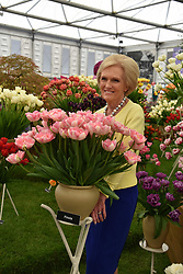 Mary Berry at the RHS Chelsea Flower Show Press Day, Royal Hospital Chelsea, London England. 22 May 2017.<br /> Photo by Dominic O'Neill/SilverHub 0203 174 1069 sales@silverhubmedia.com