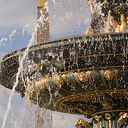 Fountain and Obelisk at Place de la Concorde, Paris, France<br />