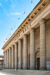 View of the Caird Hall in City Square, Dundee, Scotland, UK
