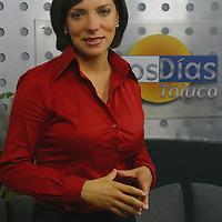 Toluca, Méx.- Grettel Luengas, conductor del programa buenos dias de Televisa Toluca. Agencia MVT / Mario Vazquez de la Torre. (DIGITAL)<br /> <br /> NO ARCHIVAR - NO ARCHIVE