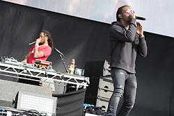 © Licensed to London News Pictures. 26/08/2017. Reading Festival 2017, Reading, UK. Migos an American hip-hop trio.  Pictured: Offset.  Photo credit: Andy Sturmey/LNP