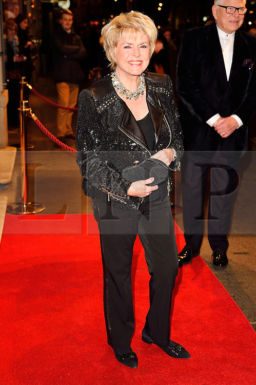 © Licensed to London News Pictures. 16/02/2016. GLORIA HUNNIFORD arrives for the press night of Mrs Henderson Presents press night at the Noel Coward Theatre. London, UK. Photo credit: Ray Tang/LNP