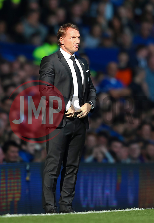 Liverpool Manager, Brendan Rodgers during his final game in charge. Rodgers parted company with Liverpool after the match  - Mandatory byline: Matt McNulty/JMP - 07966 386802 - 04/10/2015 - FOOTBALL - Goodison Park - Liverpool, England - Everton  v Liverpool - Barclays Premier League